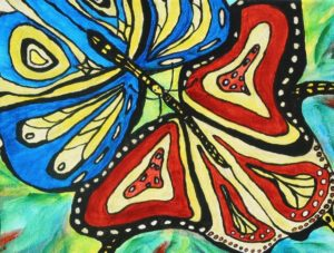 """10 x 12"""" Traditional wrap canvas. Acrylic. Sold to butterfly lover."""