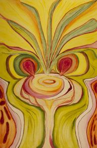 "24 x 36"" Traditional wrap on canvas. Acrylic"